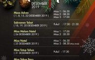 """Jadwal Misa Natal 2019 dan Tahun Baru 2020 di Gereja """"Anak Domba"""" St.Yohanes Maria Vianney – Paroki Cilangkap – Jakarta Timur"""