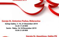 Jadwal Penerimaan Sakramen Tobat 2019 Paroki Bidaracina