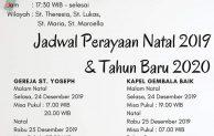 Jadwal Misa Natal 2019 dan Tahun Baru 2020 di Gereja St.Yoseph – Jakarta Timur