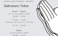 Sakramen Tobat 2019 Paroki Menteng