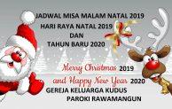 Jadwal Misa Natal 2019 dan Tahun Baru 2020 di Gereja Keluarga Kudus – Paroki Rawamangun – Jakarta Timur