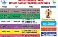 Jadwal Misa rabu Abu gereja Santo fransiskus xaverius tanjung priuk