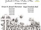 Jadwal Misa Rabu Abu Gereja Santo Yoseph Matraman Jakarta