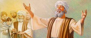"Luk 1:5Pada zaman Herodes, raja Yudea, adalah seorang imam yang bernama Zakharia dari rombongan Abia. Isterinya juga berasal dari keturunan Harun, namanya Elisabet.  Luk 1:6Keduanya adalah benar di hadapan Allah dan hidup menurut segala perintah dan ketetapan Tuhan dengan tidak bercacat.  Luk 1:7Tetapi mereka tidak mempunyai anak, sebab Elisabet mandul dan keduanya telah lanjut umurnya.  Luk 1:8Pada suatu kali, waktu tiba giliran rombongannya, Zakharia melakukan tugas keimaman di hadapan Tuhan.  Luk 1:9Sebab ketika diundi, sebagaimana lazimnya, untuk menentukan imam yang bertugas, dialah yang ditunjuk untuk masuk ke dalam Bait Suci dan membakar ukupan di situ.  Luk 1:10Sementara itu seluruh umat berkumpul di luar dan sembahyang. Waktu itu adalah waktu pembakaran ukupan.  Luk 1:11Maka tampaklah kepada Zakharia seorang malaikat Tuhan berdiri di sebelah kanan mezbah pembakaran ukupan.  Luk 1:12Melihat hal itu ia terkejut dan menjadi takut.  Luk 1:13Tetapi malaikat itu berkata kepadanya: ""Jangan takut, hai Zakharia, sebab doamu telah dikabulkan dan Elisabet, isterimu, akan melahirkan seorang anak laki-laki bagimu dan haruslah engkau menamai dia Yohanes.  Luk 1:14Engkau akan bersukacita dan bergembira, bahkan banyak orang akan bersukacita atas kelahirannya itu.  Luk 1:15Sebab ia akan besar di hadapan Tuhan dan ia tidak akan minum anggur atau minuman keras dan ia akan penuh dengan Roh Kudus mulai dari rahim ibunya;  Luk 1:16ia akan membuat banyak orang Israel berbalik kepada Tuhan, Allah mereka,  Luk 1:17dan ia akan berjalan mendahului Tuhan dalam roh dan kuasa Elia untuk membuat hati bapa-bapa berbalik kepada anak-anaknya dan hati orang-orang durhaka kepada pikiran orang-orang benar dan dengan demikian menyiapkan bagi Tuhan suatu umat yang layak bagi-Nya.""  Luk 1:18Lalu kata Zakharia kepada malaikat itu: ""Bagaimanakah aku tahu, bahwa hal ini akan terjadi? Sebab aku sudah tua dan isteriku sudah lanjut umurnya.""  Luk 1:19Jawab malaikat itu kepadanya: ""Akulah Gabriel yang m"