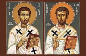 Pelajaran yang bisa diambil dari Santo Titus dan Santo Timotius