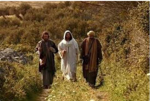 "Lalu kedua orang itupun menceriterakan apa yang terjadi di tengah jalan dan bagaimana mereka mengenal Dia pada waktu Ia memecah-mecahkan roti. Dan sementara mereka bercakap-cakap tentang hal-hal itu, Yesus tiba-tiba berdiri di tengah-tengah mereka dan berkata kepada mereka: ""Damai sejahtera bagi kamu!"" Mereka terkejut dan takut dan menyangka bahwa mereka melihat hantu. Akan tetapi Ia berkata kepada mereka: ""Mengapa kamu terkejut dan apa sebabnya timbul keragu-raguan di dalam hati kamu? Lihatlah tangan-Ku dan kaki-Ku: Aku sendirilah ini; rabalah Aku dan lihatlah, karena hantu tidak ada daging dan tulangnya, seperti yang kamu lihat ada pada-Ku."" Sambil berkata demikian, Ia memperlihatkan tangan dan kaki-Nya kepada mereka. Dan ketika mereka belum percaya karena girangnya dan masih heran, berkatalah Ia kepada mereka: ""Adakah padamu makanan di sini?"" Lalu mereka memberikan kepada-Nya sepotong ikan goreng. Ia mengambilnya dan memakannya di depan mata mereka. Ia berkata kepada mereka: ""Inilah perkataan-Ku, yang telah Kukatakan kepadamu ketika Aku masih bersama-sama dengan kamu, yakni bahwa harus digenapi semua yang ada tertulis tentang Aku dalam kitab Taurat Musa dan kitab nabi-nabi dan kitab Mazmur."" Lalu Ia membuka pikiran mereka, sehingga mereka mengerti Kitab Suci. Kata-Nya kepada mereka: ""Ada tertulis demikian: Mesias harus menderita dan bangkit dari antara orang mati pada hari yang ketiga, dan lagi: dalam nama-Nya berita tentang pertobatan dan pengampunan dosa harus disampaikan kepada segala bangsa, mulai dari Yerusalem. Kamu adalah saksi dari semuanya ini."