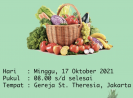 Misa hari pangan sedunia di gereja theresia jakarta